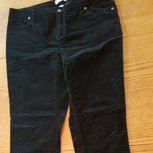 Christopher and Banks Like New Black Velvet jeans